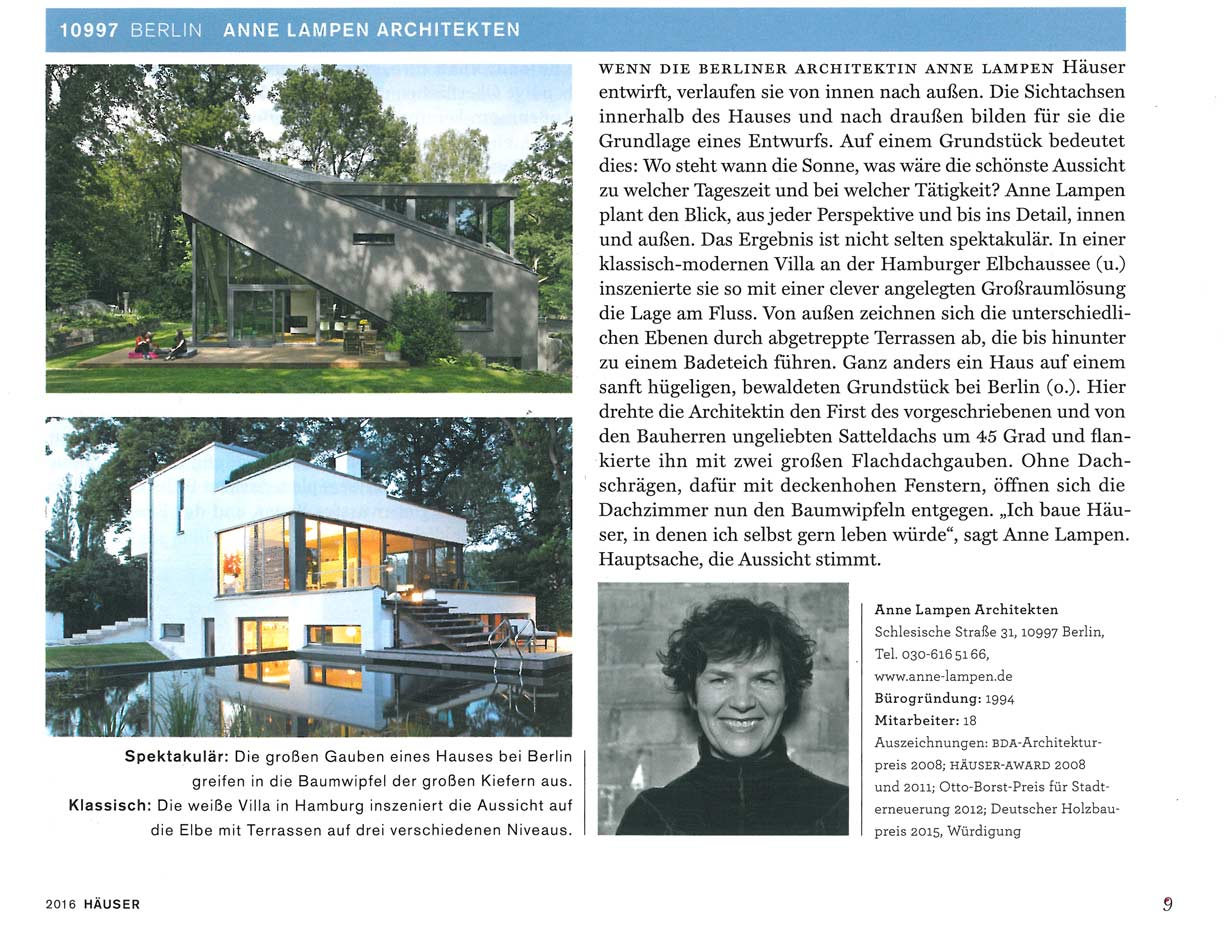 11 2016 häuser sonderausgabe 2016 die 100 besten architekten für ihr neues zuhause die 100 besten büros für einfamilienhaus architektur aus deutschland